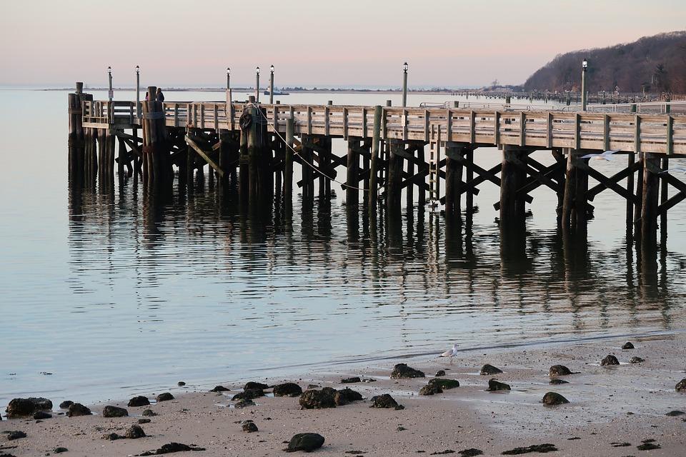 Long Island, Beach, Dock, Pier, Coast, Seashore, Sea