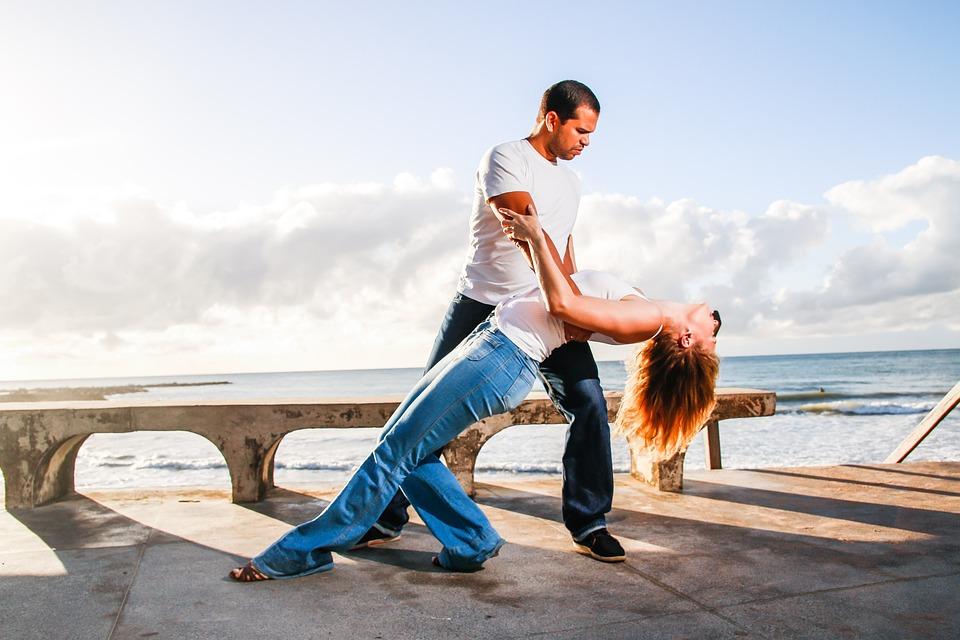 Pari, Tanssijat, Tanssi, Keinu, Beach, Portti, Laituri