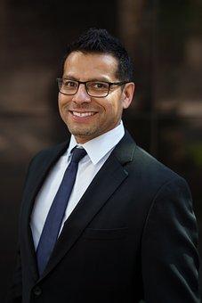 Homme D'Affaires, Sourire, Portrait