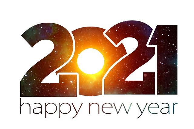 新しい年, 新しい年の前夜, 新年, 2021, 初め, ご挨拶, 星, 宇宙, コスモス