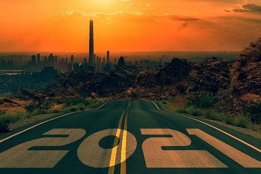 Road, New Year, 2021, City, Buildings