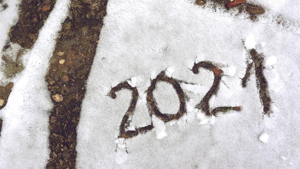 新年, 2021, 雪, 新年のご挨拶, 祝賀会, 休日, 希望, 冬, はがき, Pf