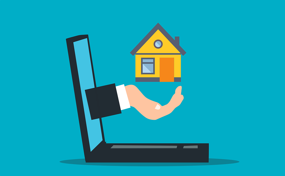 Makler, Immobilien, Haus, Home, Online, Laptop