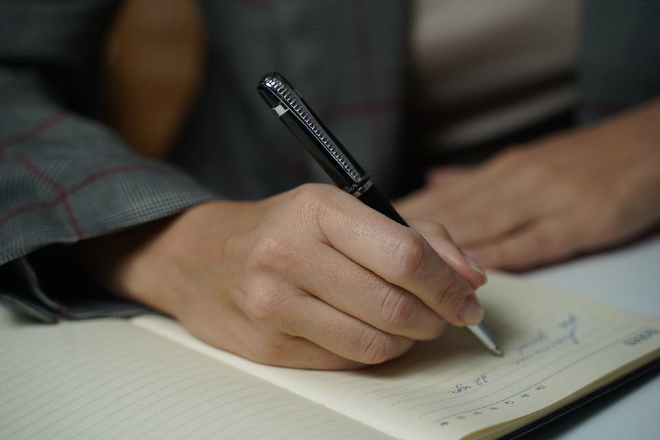 Hand, Schrijven, Notitieboekje, Pen, Brief, Auteur