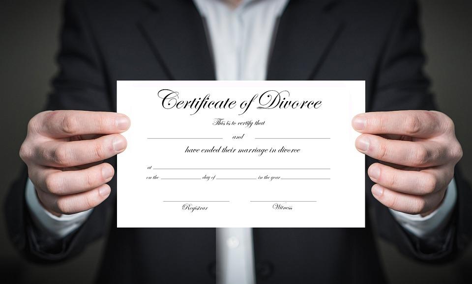 Certificate, Paper, Document, Divorce, Separation