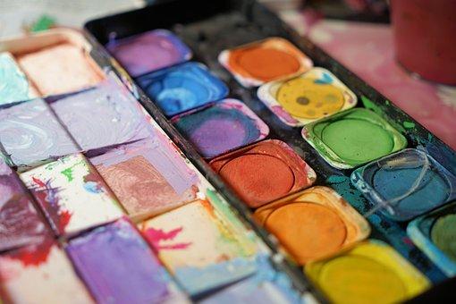 色, 水彩画, カラー パレット, カラフルです, アーティスト, 創造的です