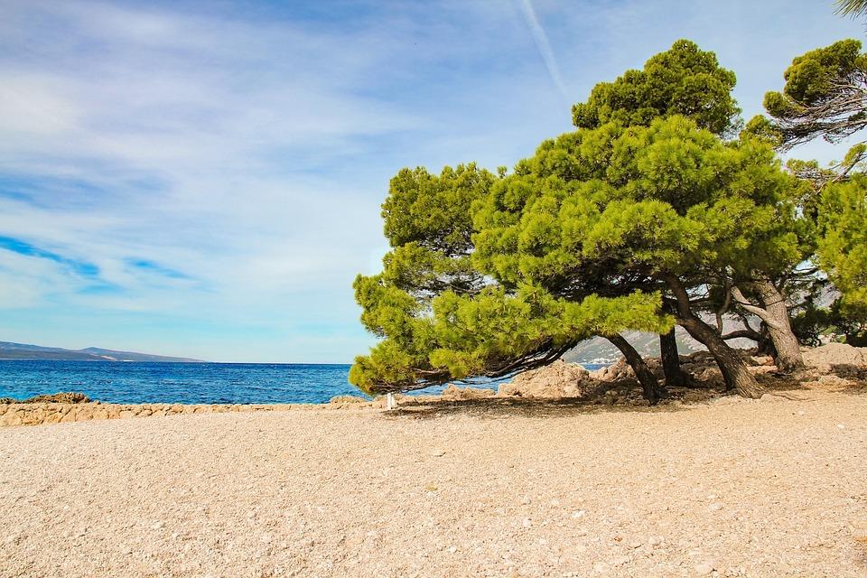 Kroatien, Brela, Strand, Adria, Meer, Wasser, Küste