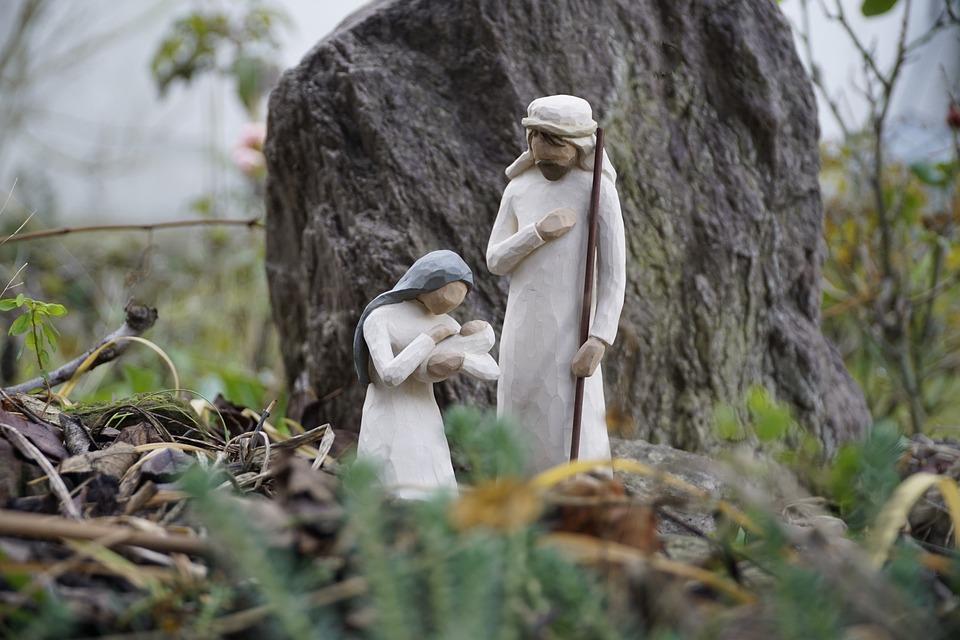 Jesus, Crib, Maria, Family, Christmas, Nativity