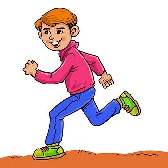 Junge, Joggen, Ausübung, Sport