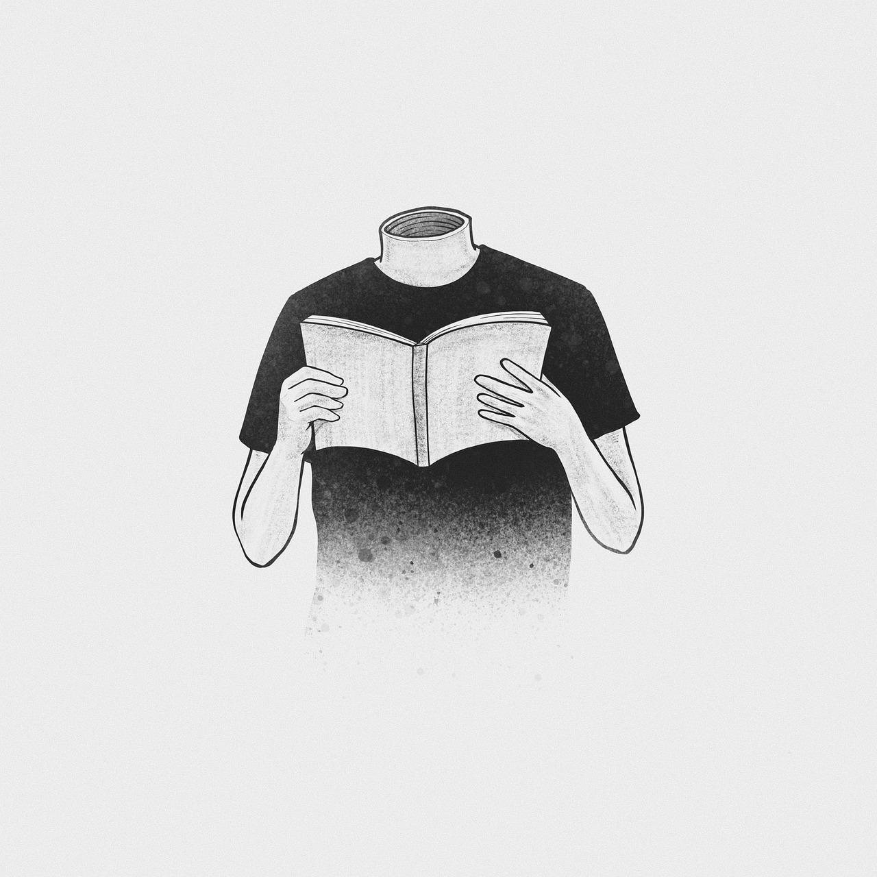 Reading Headless Surreal - Free image on Pixabay