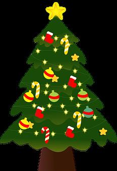 Baum, Weihnachten, Icon, Ornamente