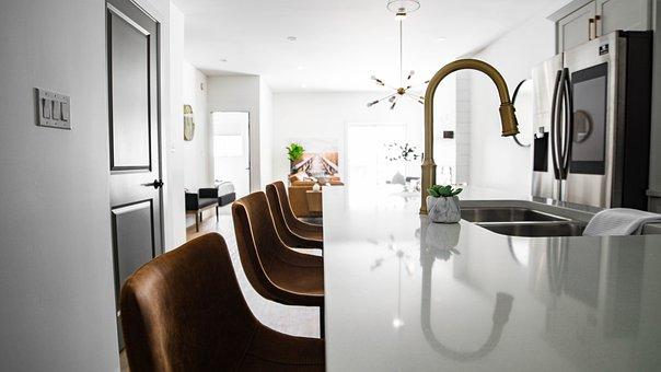Home, Kitchen, Interior, Kitchen Island