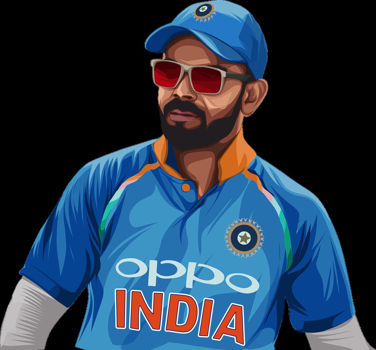 Virat Kohli Cricketer Player - Free vector graphic on Pixabay