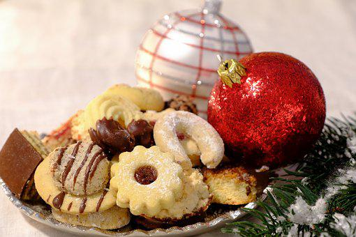 Christmas, Cookies, Food, Snack, Dessert