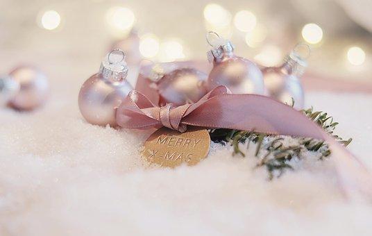 Ornaments, Ribbon, Snow, Decorative