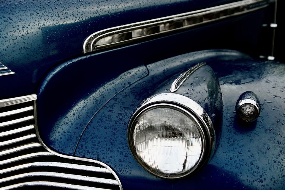 車, 車両, 自動, シボレー, 駆け回る, 古典的な, レトロ, クラシックカー, ビンテージ, 自動車