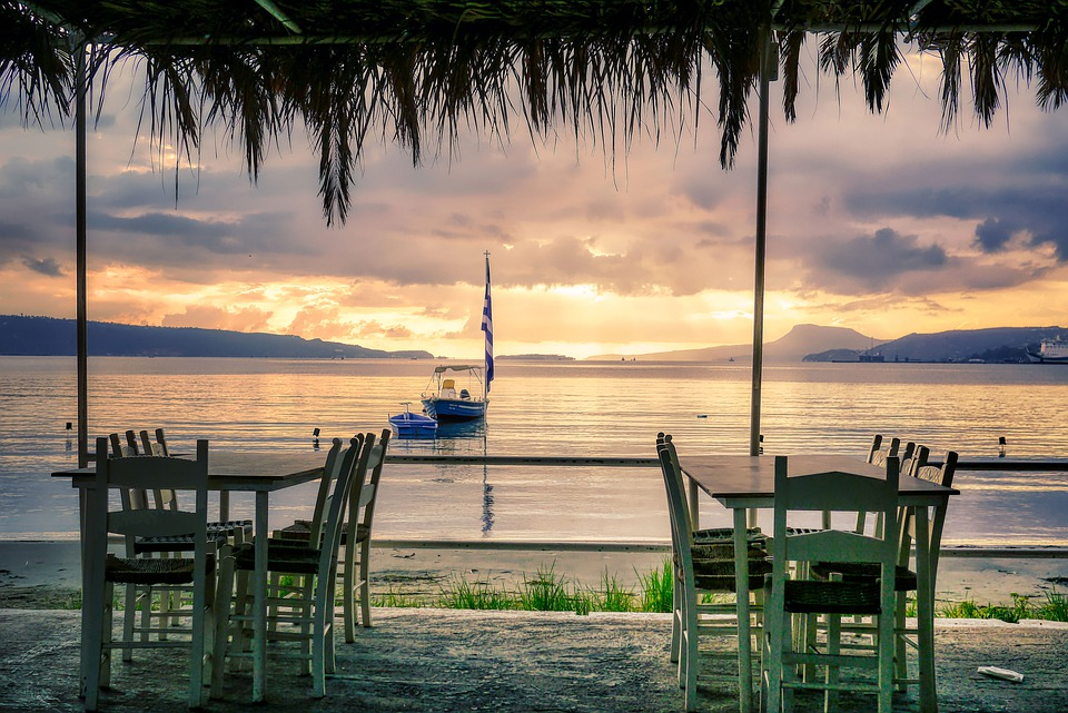 Taverne, Plage, Lever Du Soleil, Mer, Rivage, Côte