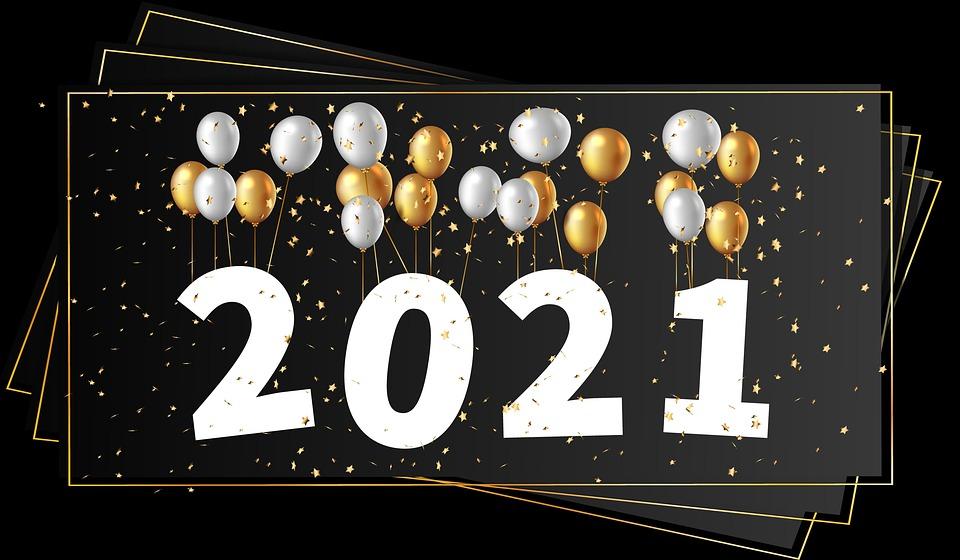 Nieuwjaar, 2021, Nieuw Jaar 2021, Gelukkig Nieuwjaar
