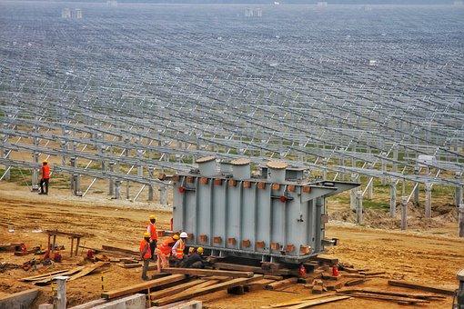 Solar Panels, Construction Site