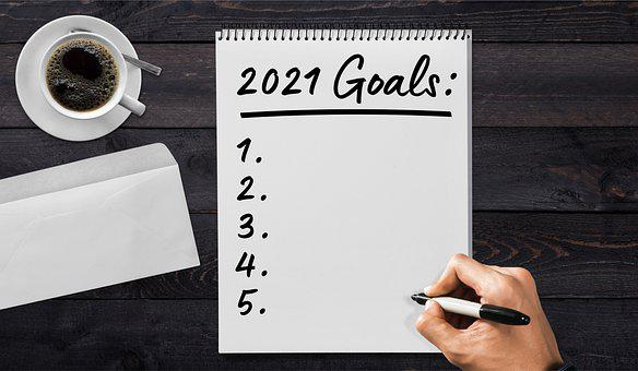 list of 2021 goals, blank