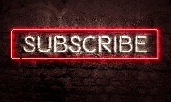 購読, 社会的なメディア, グラフィック, リソース, インターネット, 信者