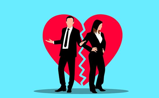 Couple, Heartbreak, Divorce, Heart