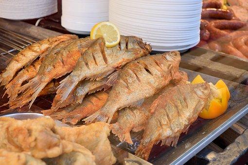 食品, 魚, 魚のフライ, 揚げ, Keszeg, 魚介類, 食べる, 食事