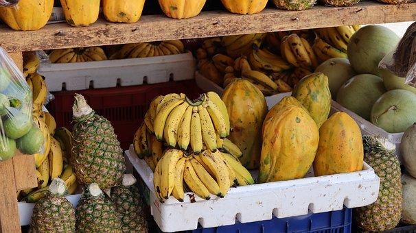 Fruit, Fresh, Pineapples and Papayas