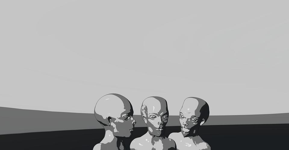 Pozaziemskie, Przestrzeń, Obiekt, Srebrny, Chrom