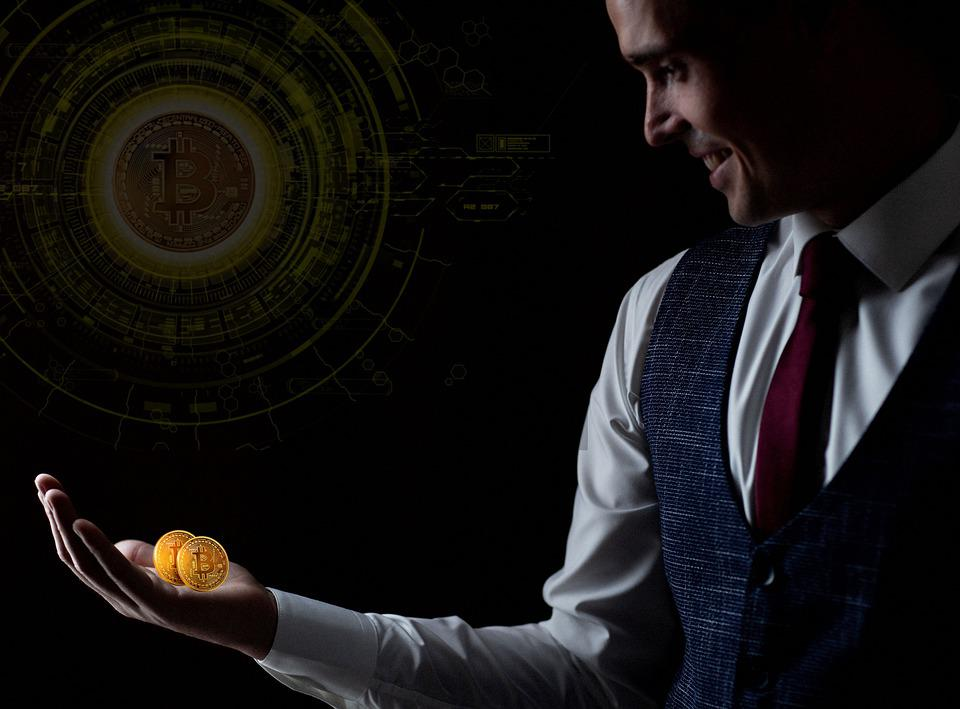 Bitcoin, Cryptocurrency, Man, Blockchain, Money