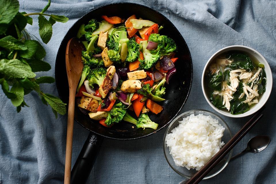 食事, 食品, 豆腐, 米, 皿, 調理, 揚げ, おいしい, 料理, パン, ボウル, 懐石, フラットレイ