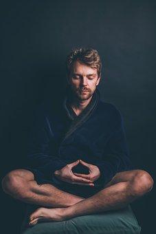 男性, 瞑想, 精神的です, 禅, 男, 平和, ヨガ, 緩和, 残り, 祈り