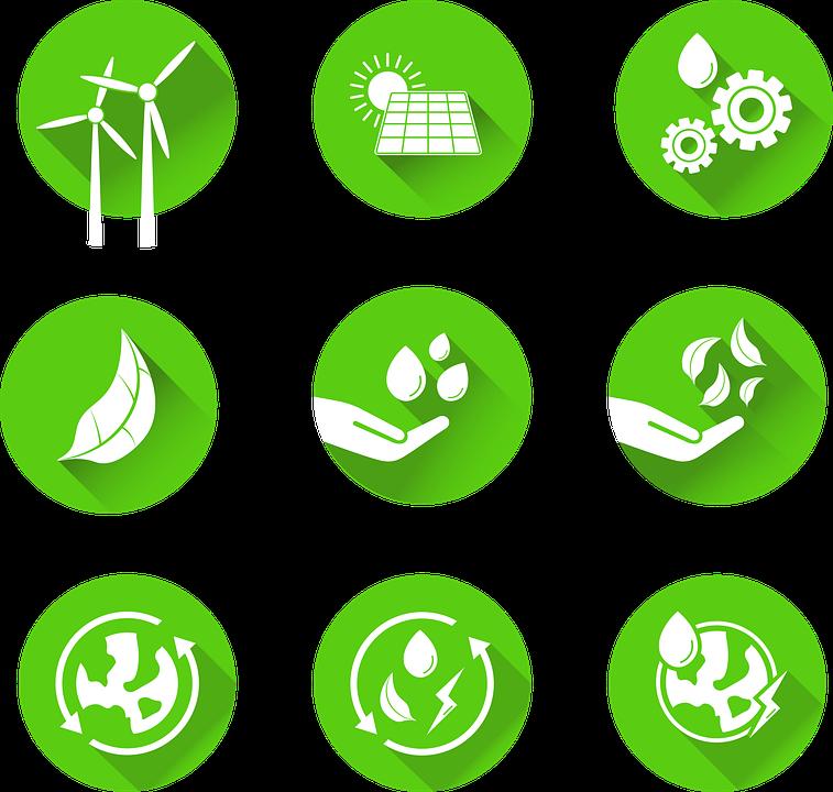 Sustainability Icons, Icons, Set, Sustainable