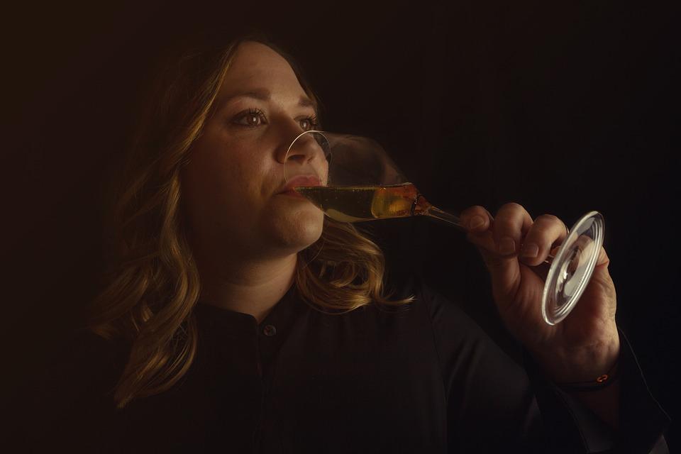 Vrouw, Drinken, Glas, Wijn, Alcohol, Champagne, Model