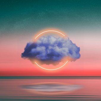Cloud, Stars, Ocean, Reflection