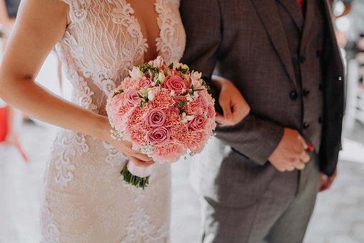 結婚式、結婚、結婚、愛、恋、花嫁、初、男