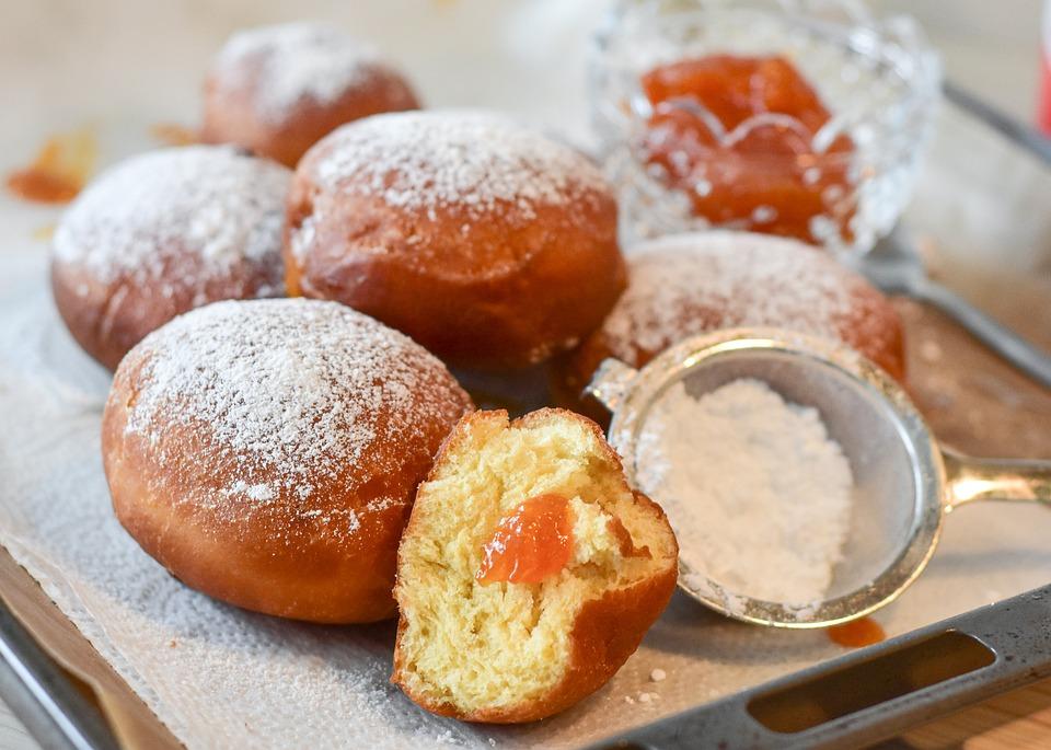 Творожные пончики с начинкой