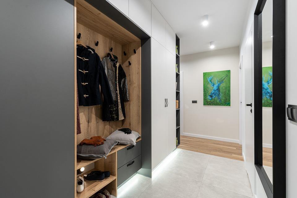 Nattduksbord, Spegel, Korridor, Kläder, Garderoben