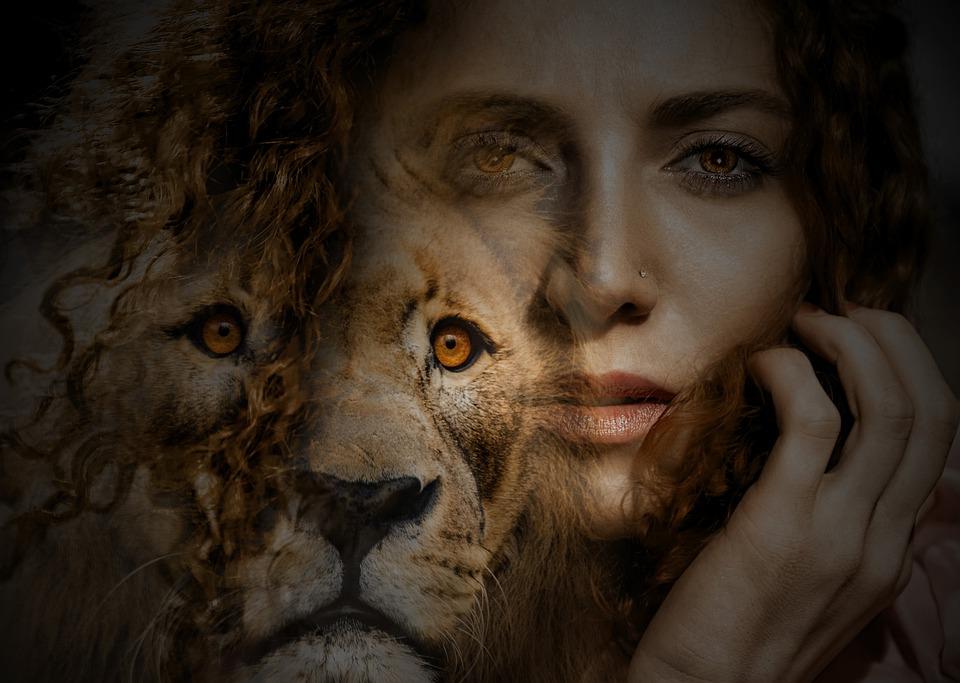 Nainen, Leijona, Silmät, Hiukset, Epätodellinen, Laatia