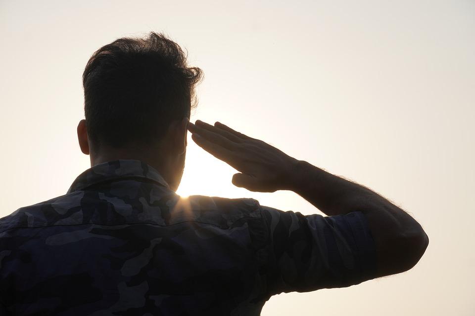 Salute, Army, Man, Soldier, Military, Hero, Veteran