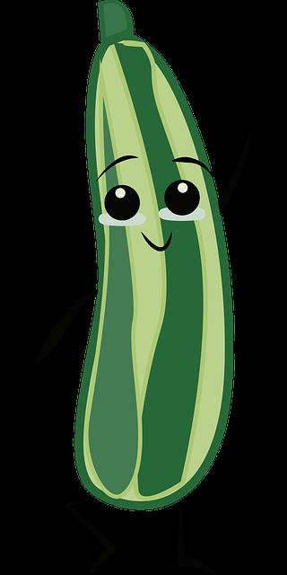 Komkommer Groente Gezicht - Gratis vectorafbeelding op Pixabay