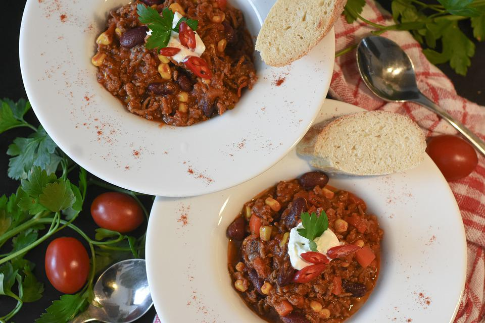Chili, Minced Meat, Beans, Lunch, Spices, Food, Mexican