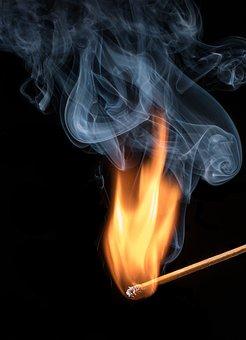 Matchstick, Flame, Smoke, Burn, Burning