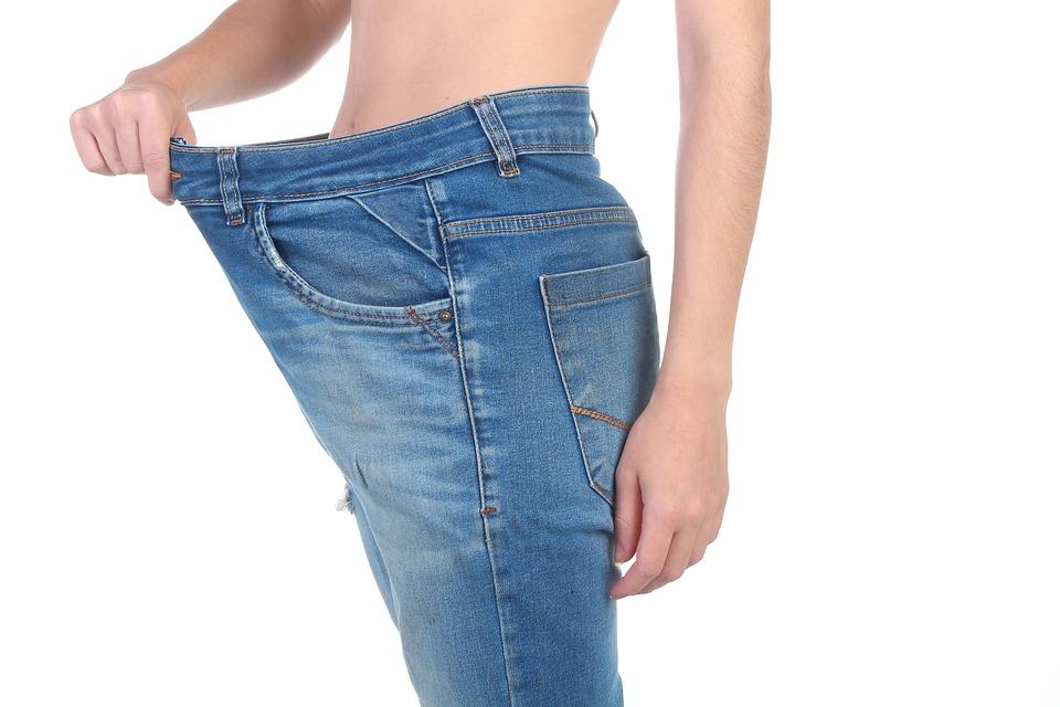 Utrata Masy Ciała, Luźne Spodnie, Kobieta, Ciała, Luźny