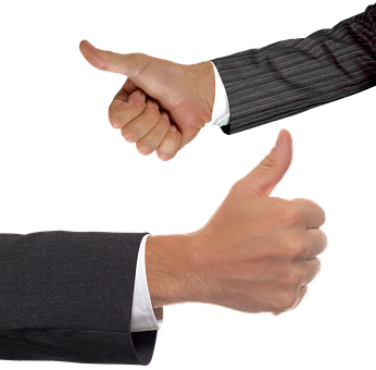 親指, 手, 指, わかりました, スーツ, ビジネス, 成功, 同意します