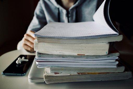 書籍, 杭, 教育, 学校, レッスン, 知識, ノートブック, 教科書, 学ぶ
