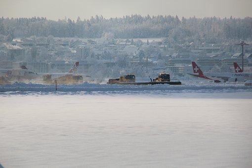 Salt, Airport, Aircraft, Snow Removal