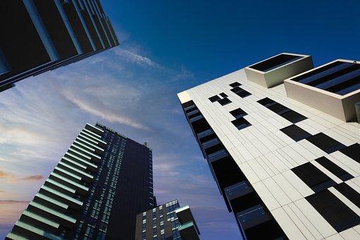 L'Architecture, Gratte Ciels, Bâtiments
