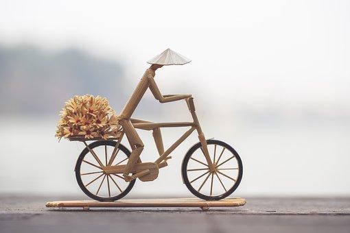 マウンテンバイク, 図, 手作り, ベトナム語, 自転車, 配信, 花