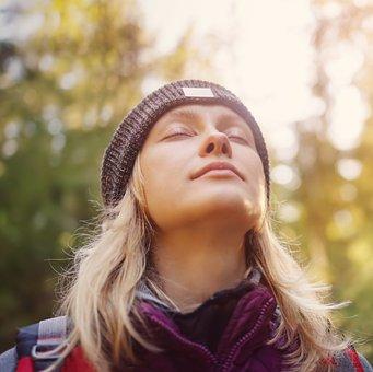 Kvinde, Meditation, Inhalere, Wellness